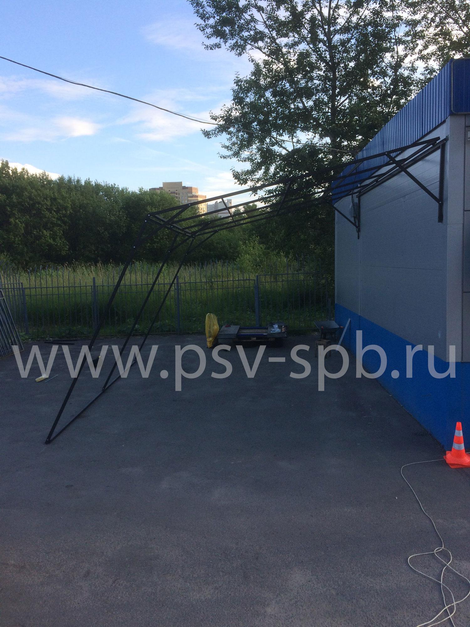 Металлический навес под заказа в СПб