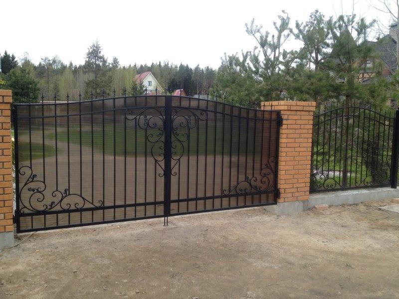 Ворота распашные спб изготовление