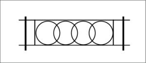 Примеры эскизов газонных ограждений