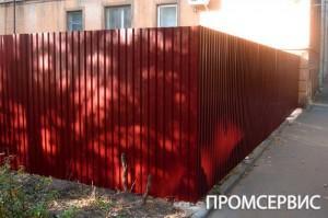 забор профильный лист