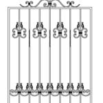 оконная решетка с элементами ковки