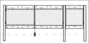 Ворота рабица