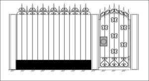 Кованные ворота от производителя
