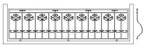 эскиз ограждения с ковкой