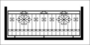 Примеры эскизов балконных ограждений от производителя