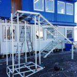 Монтаж металлической лестницы от производителя