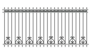 Секционный забор - эскиз
