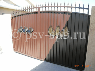 Ворота распашные нетиповые