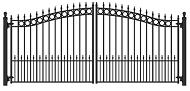 Ворота распашные ВР-02, с элементами пики, кольца
