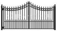 Ворота распашные ВР-05, с элементами пики, кольца