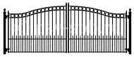Ворота распашные ВР-08, с элементами кольца, пики