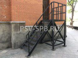 Лестница металлическая, эвакуационная лестница, пожарная лестница