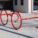Декоративная велопарковка – очки