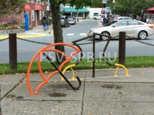 Велопарковка декоративная